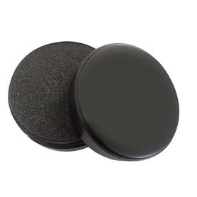 Pudełko do monet, czarne. Gąbka czarna trwała, posiada 9 nacięć