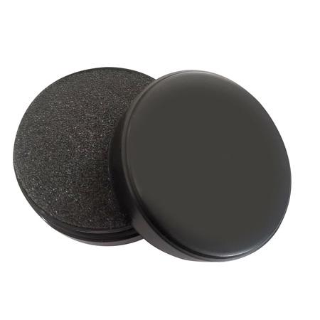 Pudełko do monet, czarne. Gąbka czarna trwała, posiada 9 nacięć  (1)